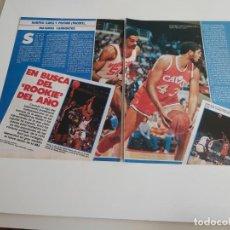 Coleccionismo deportivo: REPORTAJE 4 PAGINAS BALONCESTO NBA SOBRE ROOKIE DEL AÑO HARPER(CAVS) O PERSON(PACERS) F2. Lote 194248417
