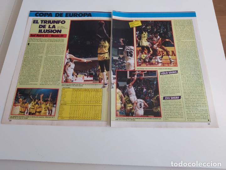 REPORTAJE 2 PAGINAS BALONCESTO PARTIDO REAL MADRID-MACCABI DE COPA DE EUROPA F2 (Coleccionismo Deportivo - Revistas y Periódicos - otros Deportes)