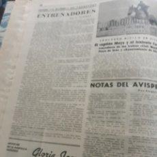 Coleccionismo deportivo: CONCURSO HIPICO EN SITGES . HOJA AÑO 1944. Lote 194489730