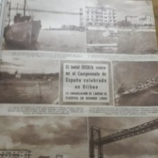 Coleccionismo deportivo: CAMPEONATO DE ESPAÑA DE BATELES . BILBAO . HOJA AÑO 1945 .. Lote 194492670