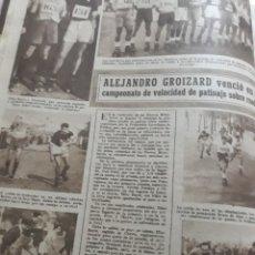 Coleccionismo deportivo: ALEJANDRO GROIZARD VENCIÓ EN EL CAMPEONATO DE VELOCIDAD DE PATINAJE . AÑO 1945 .. Lote 194493235