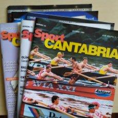 Coleccionismo deportivo: LOTE DE 6 REVISTAS SPORT CANTABRIA. Lote 194558206
