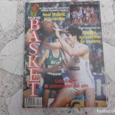 Coleccionismo deportivo: NUEVO BASKET Nº 132, POSTER R.MADRID,EUROBASKET´85,LOLO SANZ,LOS DOCE DEL ...PODIUM,R.MADRID INACCES. Lote 194661195