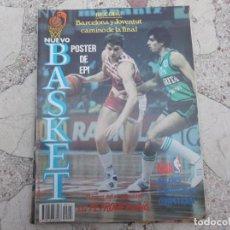 Coleccionismo deportivo: NUEVO BASKET Nº 141, POSTER EPI,LA PETROVICMANIA,ITU EL HURACAN BLANCO,DOMINIQUE WILKINS,. Lote 194661513