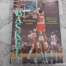 Coleccionismo deportivo: NUEVO BASKET Nº 128, SABONIS,MIKE PHILLIPS,MICHAEL JORDAN: ORO NEGRO EN LA N.B.A.OSCAR BECERRA SCHMI. Lote 194665207