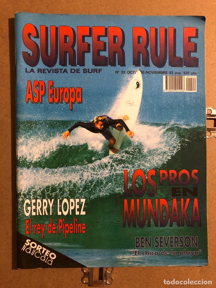 SURFER RULE N° 22 (1993). LOS PROS EN MUNDAKA, GERRY LOPEZ, BEN SEVERSON, ASP EUROPA,... (Coleccionismo Deportivo - Revistas y Periódicos - otros Deportes)