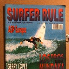 Coleccionismo deportivo: SURFER RULE N° 22 (1993). LOS PROS EN MUNDAKA, GERRY LOPEZ, BEN SEVERSON, ASP EUROPA,.... Lote 194904315