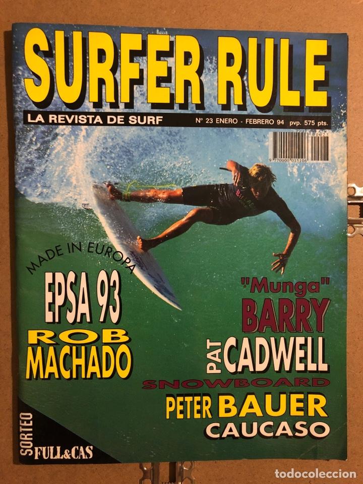 """SURFER RULE N° 23 (1994). ROB MACHADO, """"MUNGA"""" BARRY, PAT CADWELL, PETER BAUER,... (Coleccionismo Deportivo - Revistas y Periódicos - otros Deportes)"""