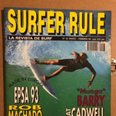 "Coleccionismo deportivo: SURFER RULE N° 23 (1994). ROB MACHADO, ""MUNGA"" BARRY, PAT CADWELL, PETER BAUER,.... Lote 194904385"