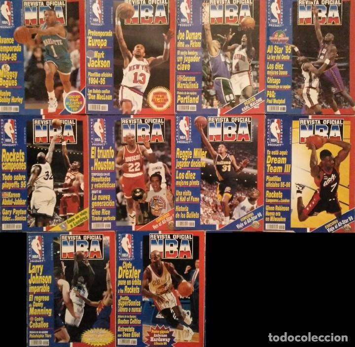 LOTE DE 10 (+1) NÚMEROS DE LA ''REVISTA OFICIAL NBA'' (1994-1996) (Coleccionismo Deportivo - Revistas y Periódicos - otros Deportes)