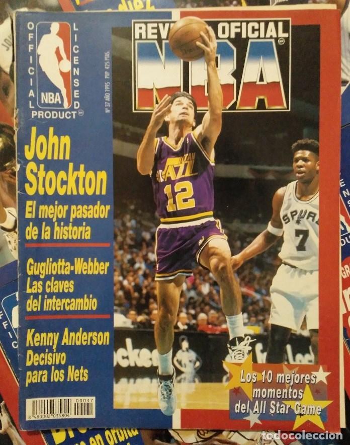 Coleccionismo deportivo: Lote de 10 (+1) números de la Revista Oficial NBA (1994-1996) - Foto 7 - 194906910