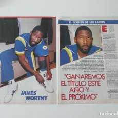 Coleccionismo deportivo: ENTREVISTA 3 PAGINAS BALONCESTO JAMES WORTHY(LOS ANGELES LAKERS) F3. Lote 194956483