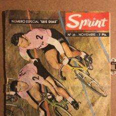 Coleccionismo deportivo: SPRINT N° 25 (1963). REVISTA DE CICLISMO. VAN STEENBERGEN - DE BACKER, 6 DÍAS DE MADRID, PAQUITO ORT. Lote 194966181