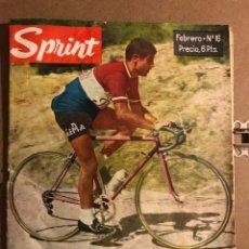 Coleccionismo deportivo: SPRINT N° 16 (1963). REVISTA DE CICLISMO. RAFAEL CARRASCO, GUIPÚZCOA, MIGUEL POBLET, AMALIO HORTELAN. Lote 194966507