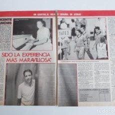 Coleccionismo deportivo: ENTREVISTA 2 PAGINAS BALONCESTO VICENTE SANCHIS ARBITRO ESPAÑOL DEL EUROBASKET 87 F4. Lote 195033610