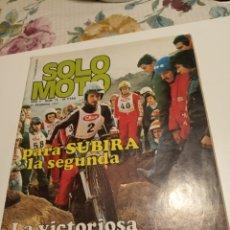 Coleccionismo deportivo: SOLO MOTO. Lote 195049127