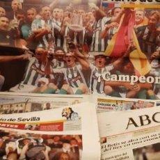 Coleccionismo deportivo: PERIÓDICO ABC RECORTES PÁGINAS Y DIARIO SEVILLA FINAL COPA REY BETIS OSASUNA 12 JUNIO 2005. LEER. Lote 195056208
