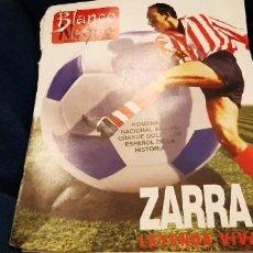 Coleccionismo deportivo: PERIÓDICO ABC BLANCO Y NEGRO RECORTES PÁGINAS ZARRA ATH. BILBAO LEYENDA 15 JUNIO 1997. LEER. Lote 195057015