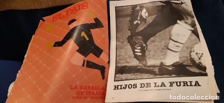 PERIÓDICO EL PAIS SEMANAL RECORTES PÁGINAS DEDICADAS AL MUNDIAL ITALIA FÚTBOL JUNIO 1990. LEER (Coleccionismo Deportivo - Revistas y Periódicos - otros Deportes)