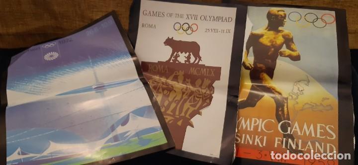 LOTE RECORTES LÁMINAS CARTEL POSTER JUEGOS OLÍMPICOS MUNICH ROMA HELSINKI. LEER (Coleccionismo Deportivo - Revistas y Periódicos - otros Deportes)