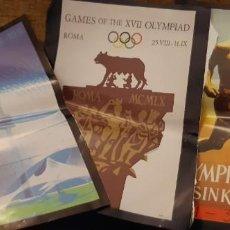 Coleccionismo deportivo: LOTE RECORTES LÁMINAS CARTEL POSTER JUEGOS OLÍMPICOS MUNICH ROMA HELSINKI. LEER. Lote 195057883