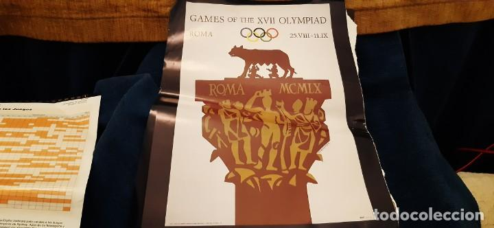 Coleccionismo deportivo: LOTE RECORTES LÁMINAS CARTEL POSTER JUEGOS OLÍMPICOS MUNICH ROMA HELSINKI. LEER - Foto 4 - 195057883