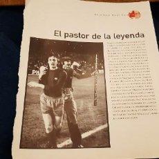 Coleccionismo deportivo: PERIODICO EL PAIS OBJETIVO RAÚL CANCIO FOTOGRAFIA CRUYFF EL PASTOR DE LA LEYENDA . Lote 195057976