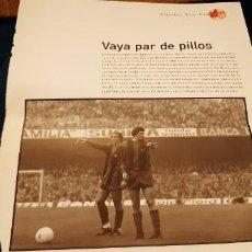 Coleccionismo deportivo: PERIODICO EL PAIS OBJETIVO RAÚL CANCIO FOTOGRAFIA CRUYFF NEESKENS BARCELONA VAYA PAR DE PILLOS. Lote 195057992