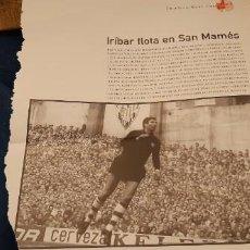 Coleccionismo deportivo: PERIODICO EL PAIS OBJETIVO RAÚL CANCIO FOTOGRAFIA IRIBAR FLOTA EN SAN MAMÉS ATH. BILBAO. Lote 195058018