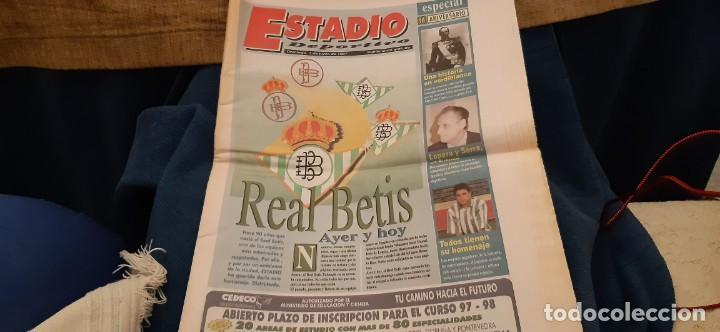 PERIODICO ESTADIO DEPORTIVO ESPECIAL REAL BETIS AYER Y HOY 1 JUNIO 1997 (Coleccionismo Deportivo - Revistas y Periódicos - otros Deportes)