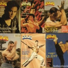Coleccionismo deportivo: JEAN CLAUDE VAN DAMME - SEIS REVISTAS DE ARTES MARCIALES ''DOJO'' (1988-1995). Lote 195059245