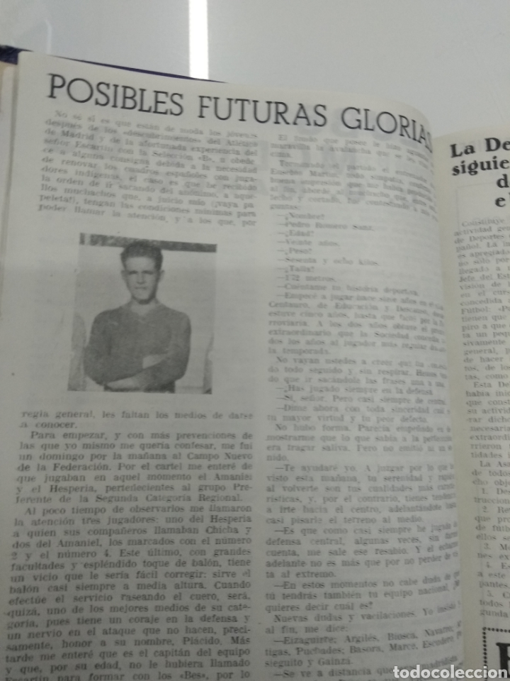 Coleccionismo deportivo: SEMANARIO DEPORTIVO POPULAR FUTBOL 1953 ENCUADERNADO N° 1 A 32p PORTADAS MUY RARO CICLISMO BOXEO ... - Foto 4 - 195128507