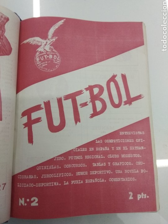 Coleccionismo deportivo: SEMANARIO DEPORTIVO POPULAR FUTBOL 1953 ENCUADERNADO N° 1 A 32p PORTADAS MUY RARO CICLISMO BOXEO ... - Foto 5 - 195128507