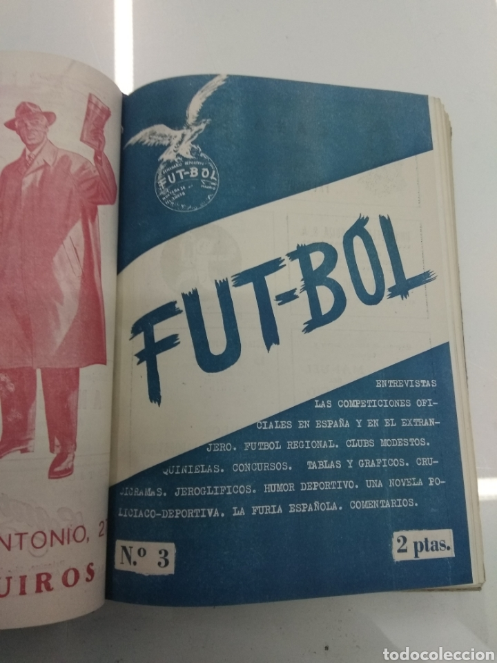 Coleccionismo deportivo: SEMANARIO DEPORTIVO POPULAR FUTBOL 1953 ENCUADERNADO N° 1 A 32p PORTADAS MUY RARO CICLISMO BOXEO ... - Foto 7 - 195128507