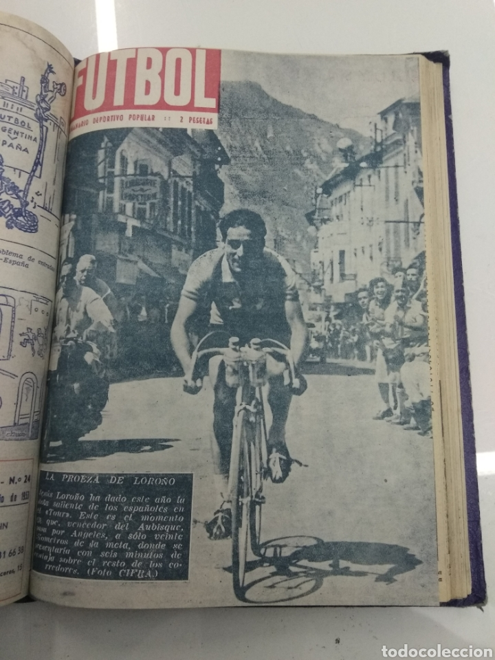 Coleccionismo deportivo: SEMANARIO DEPORTIVO POPULAR FUTBOL 1953 ENCUADERNADO N° 1 A 32p PORTADAS MUY RARO CICLISMO BOXEO ... - Foto 56 - 195128507