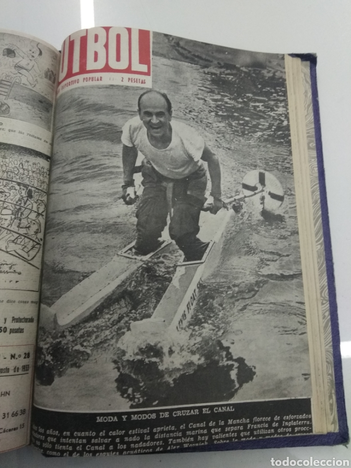 Coleccionismo deportivo: SEMANARIO DEPORTIVO POPULAR FUTBOL 1953 ENCUADERNADO N° 1 A 32p PORTADAS MUY RARO CICLISMO BOXEO ... - Foto 62 - 195128507