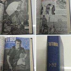 Coleccionismo deportivo: SEMANARIO DEPORTIVO POPULAR FUTBOL 1953 ENCUADERNADO N° 1 A 32P PORTADAS MUY RARO CICLISMO BOXEO .... Lote 195128507