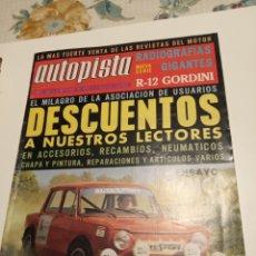 Coleccionismo deportivo: AUTOPISTA. Lote 195141227