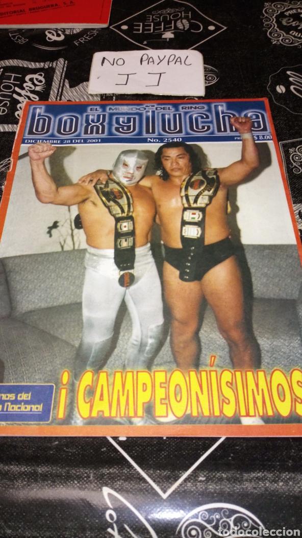 REVISTA LUCHA LIBRE MEXICANA MÉXICO BOX Y LUCHA AÑO 2001 INEDITO TC MUNDO RING (Coleccionismo Deportivo - Revistas y Periódicos - otros Deportes)
