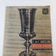 Coleccionismo deportivo: DIARIO BOLETIN OFICIAL FC BARCELONA NUMERO 11 ENERO 1963 ESTRELLA ROJA COPA FERIAS TROFEOS BARÇA CF.. Lote 195225933