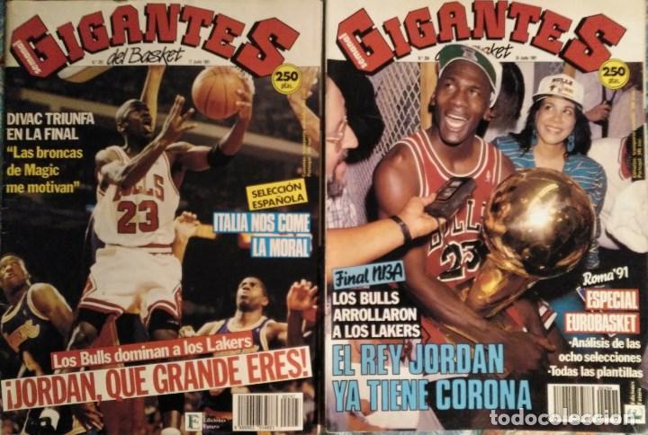 MICHAEL JORDAN & CHICAGO BULLS - REVISTAS ''GIGANTES DEL BASKET'' - PRIMER ANILLO (1991) - NBA (Coleccionismo Deportivo - Revistas y Periódicos - otros Deportes)