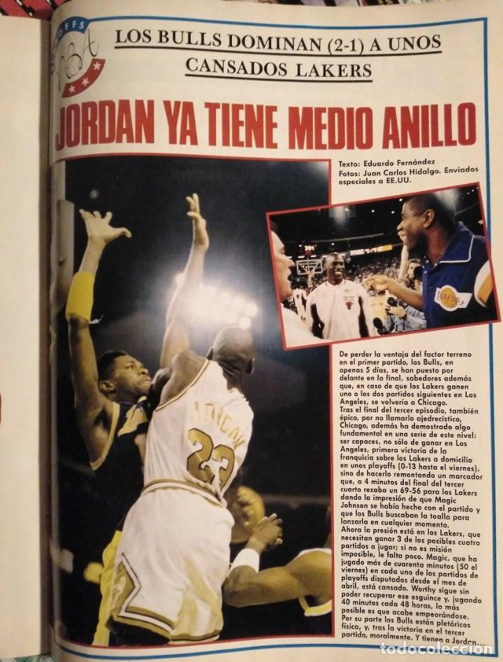 Coleccionismo deportivo: Michael Jordan & Chicago Bulls - Revistas Gigantes del Basket - primer anillo (1991) - NBA - Foto 2 - 195345745