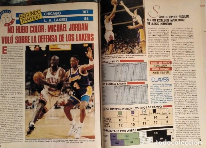 Coleccionismo deportivo: Michael Jordan & Chicago Bulls - Revistas Gigantes del Basket - primer anillo (1991) - NBA - Foto 3 - 195345745