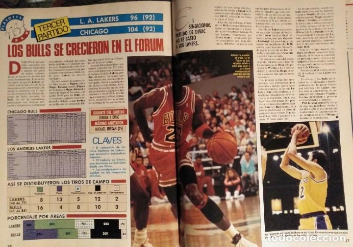 Coleccionismo deportivo: Michael Jordan & Chicago Bulls - Revistas Gigantes del Basket - primer anillo (1991) - NBA - Foto 4 - 195345745