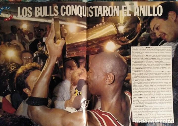 Coleccionismo deportivo: Michael Jordan & Chicago Bulls - Revistas Gigantes del Basket - primer anillo (1991) - NBA - Foto 5 - 195345745