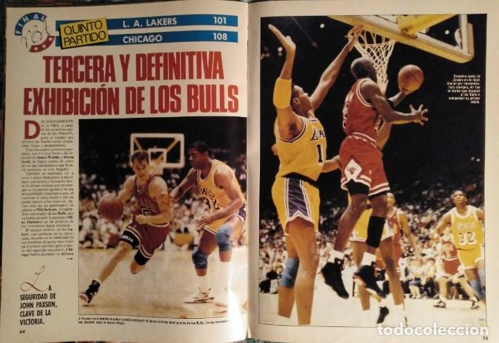 Coleccionismo deportivo: Michael Jordan & Chicago Bulls - Revistas Gigantes del Basket - primer anillo (1991) - NBA - Foto 6 - 195345745