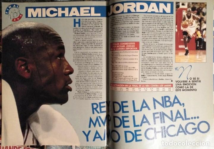 Coleccionismo deportivo: Michael Jordan & Chicago Bulls - Revistas Gigantes del Basket - primer anillo (1991) - NBA - Foto 8 - 195345745
