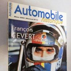 Coleccionismo deportivo: REVISTA AUTOMOBILE HISTORIQUE. NUM.13 MARS 2002 EN FRANCES. Lote 195528367