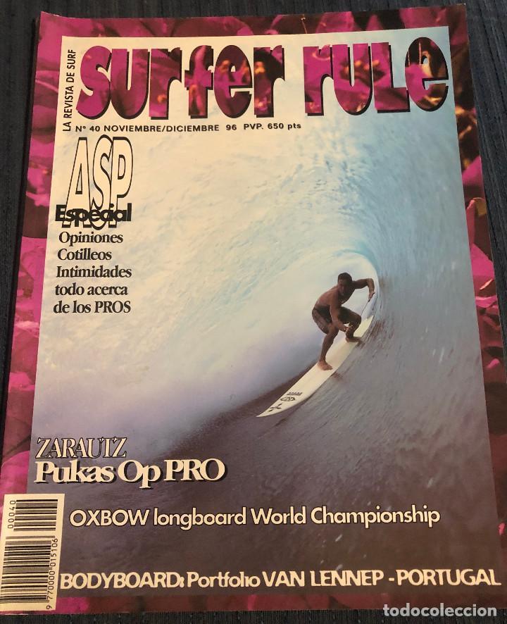 REVISTA DE SURF 'SURFER RULE', Nº 40. NOV - DIC 1996. MUY BUEN ESTADO. (Coleccionismo Deportivo - Revistas y Periódicos - otros Deportes)