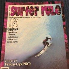 Coleccionismo deportivo: REVISTA DE SURF 'SURFER RULE', Nº 40. NOV - DIC 1996. MUY BUEN ESTADO.. Lote 195546636